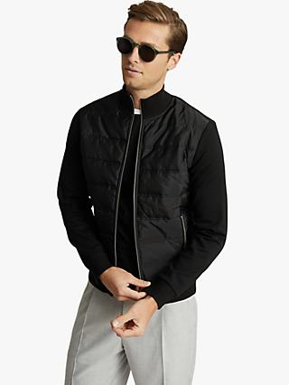 Reiss Freddie Hybrid Quilted Jacket