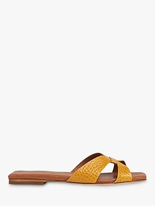 Whistles Tabitha Leather Slider Sandals, Yellow