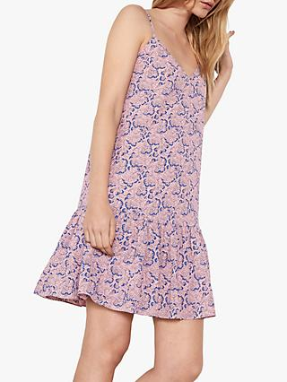 hush Luisa Frill Dress, Pink/Fan Print