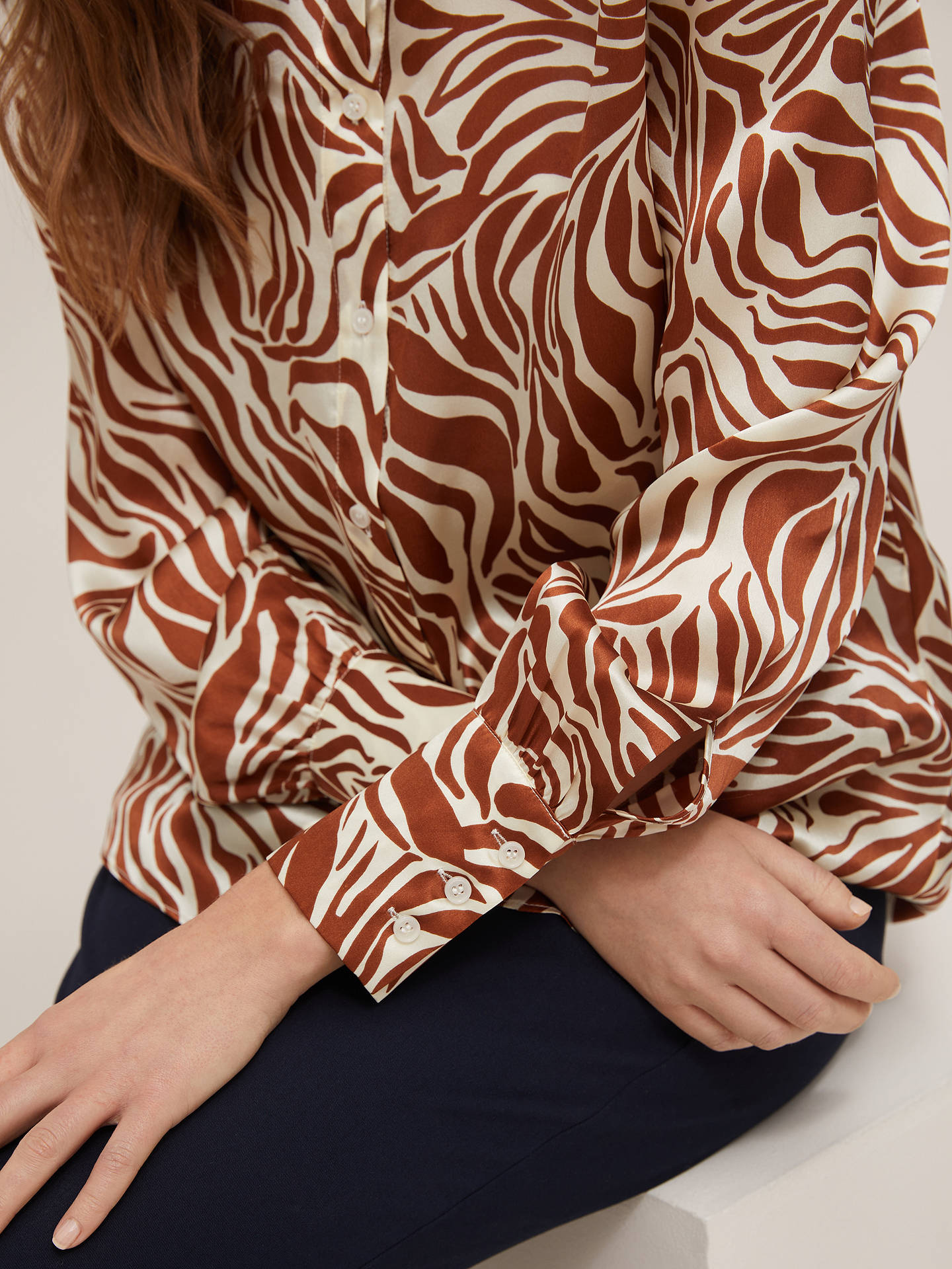 Buy Marella Danzica Animal Print Silk Blouse, Multi, 8 Online at johnlewis.com