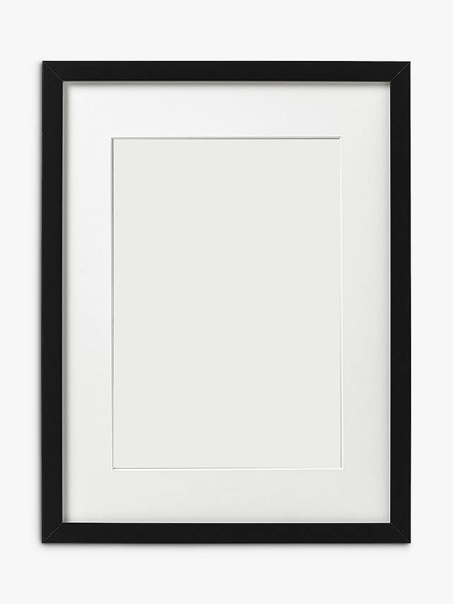 "Buy John Lewis & Partners MDF Glass Poster Frame, Black, 16 x 19"" (40 x 50cm) Online at johnlewis.com"