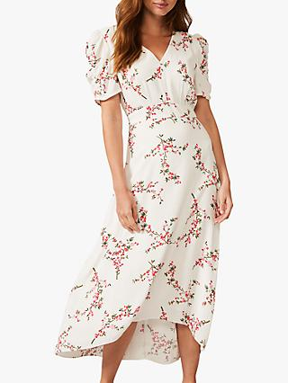 Phase Eight Mae Floral Maxi Dress, Ivory/Blush