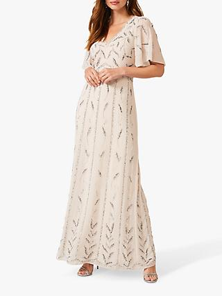 Phase Eight Meredith Floral Embellished Maxi Dress, Pearl