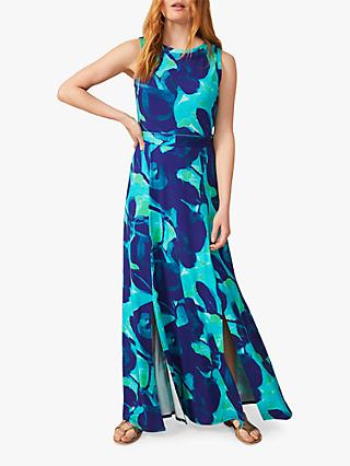 Phase Eight Evalyn Abstract Floral Print Maxi Dress, Blue/Multi
