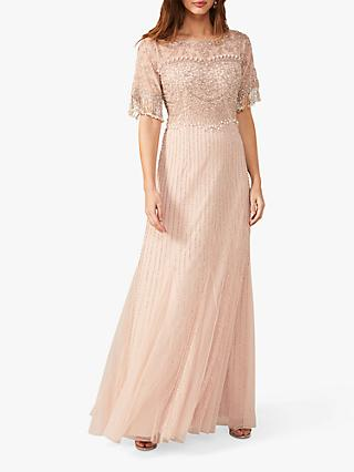 Phase Eight Leonie Embellished Maxi Dress, Powder Pink