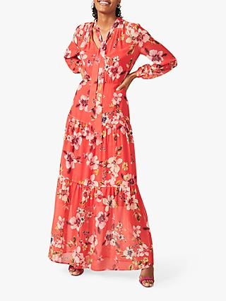 Phase Eight Bernadette Floral Print Maxi Dress, Sunset