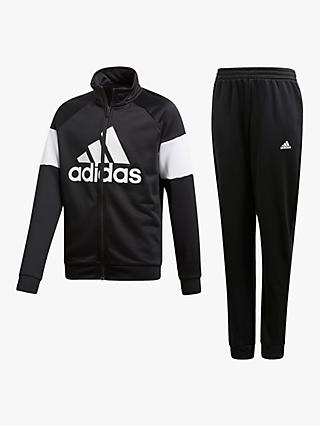 adidas Children's Large Logo Tracksuit, Black