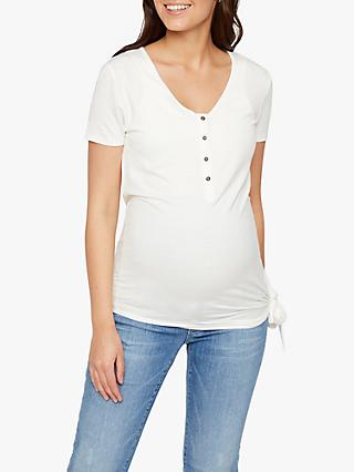 Mamalicious Button-Down Maternity And Nursing Top, White