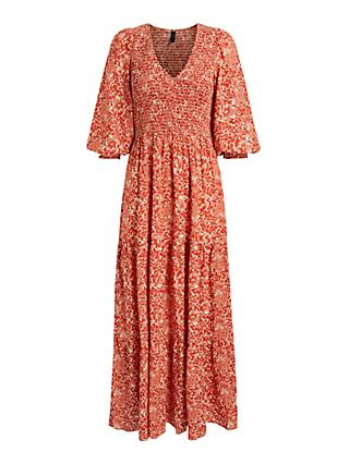Y.A.S Damask Dress, Chilli