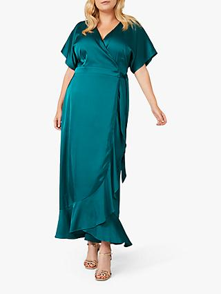 Studio 8 Perry Wrap Dress, Emerald