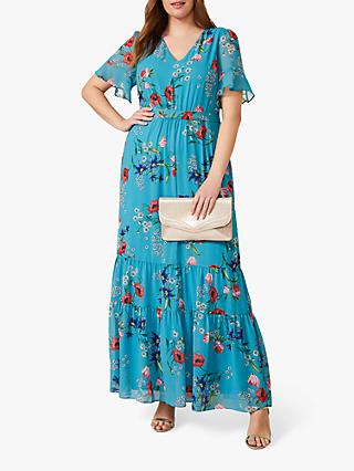 Studio 8 Morag Floral Print Maxi Dress, Blue/Multi