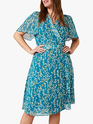 Studio 8 Lily Floral Print Wrap Dress, Teal