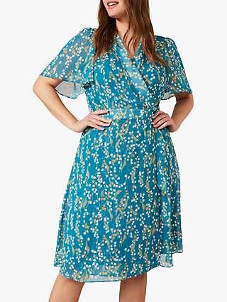 Studio 8 Lily Floral Print Wrap Dress, Teal