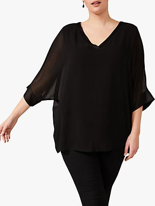 Studio 8 Stella V Neck Top, Black