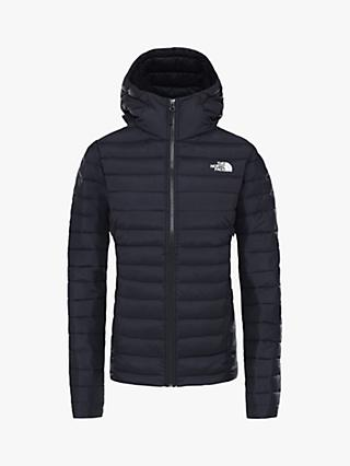 The North Face Stretch Down Women's Hooded Jacket, TNF Black