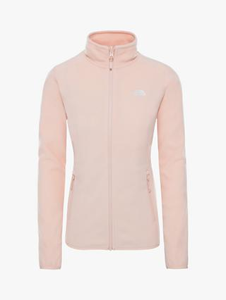 The North Face 100 Glacier Full Zip Women's Fleece, Morning Pink