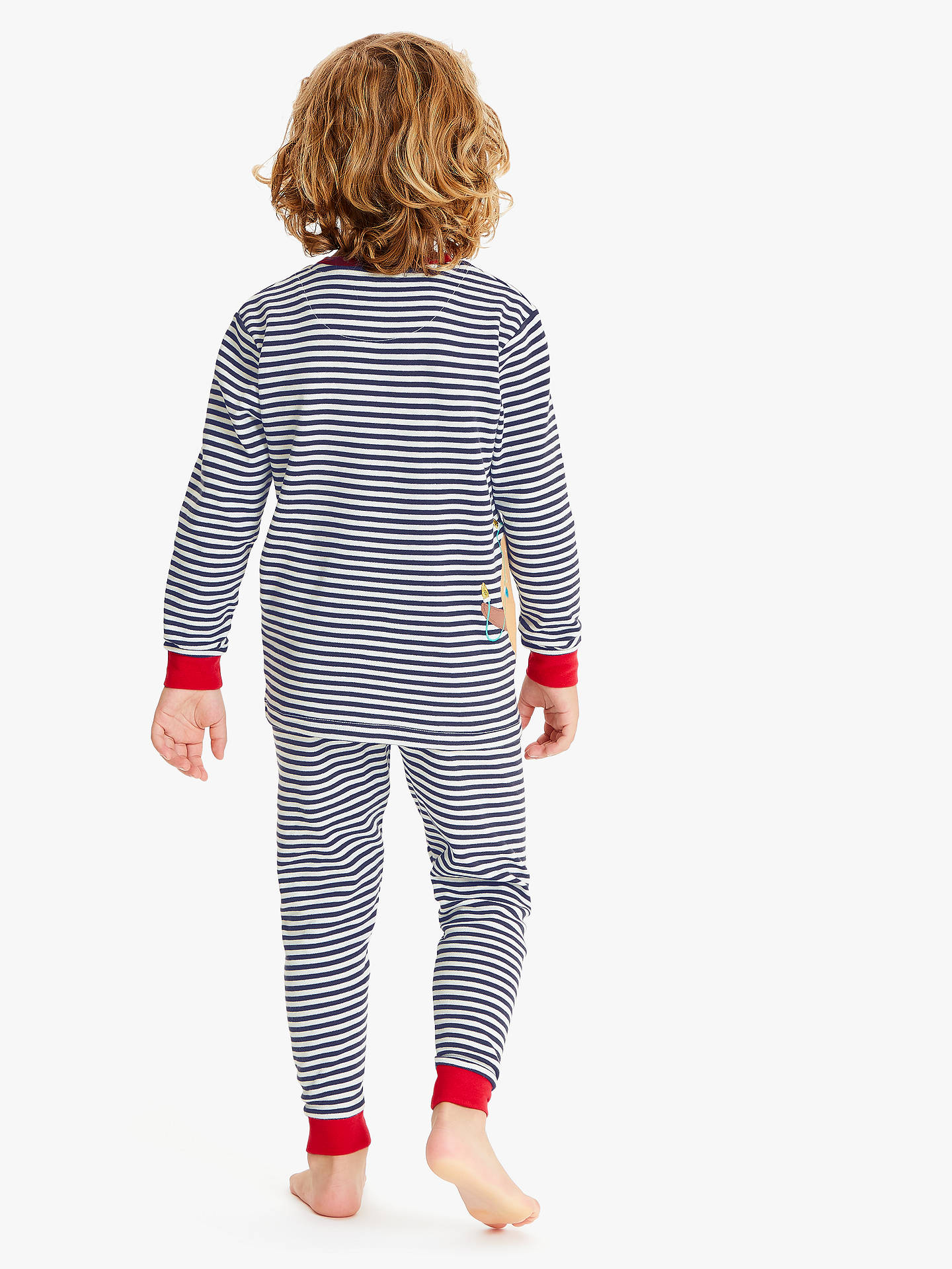Buy John Lewis & Partners Boys' Christmas Sloth Pyjamas, Pack of 2, Blue, 12 years Online at johnlewis.com