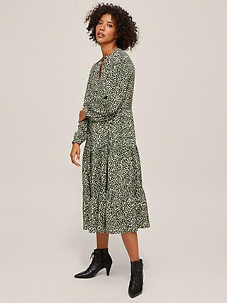 AND/OR Bronte Crowded Leopard Dress, Green
