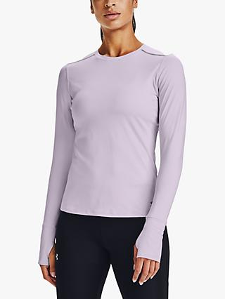 Under Armour Empowered Long Sleeve Training Top, Crystal Lilac