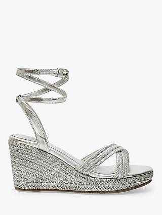 Ted Baker Laelia Espadrille Wedges, Silver