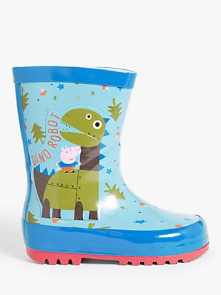 Peppa Pig Children's George Dinosaur Robot Wellington Boots, Blue