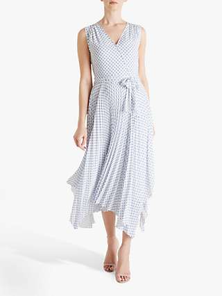 Fenn Wright Manson Amanda Holden Collection Lily Polka Dot Pleated Wrap Dress, White