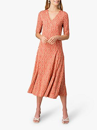 Jigsaw Block Print Midi Tea Dress