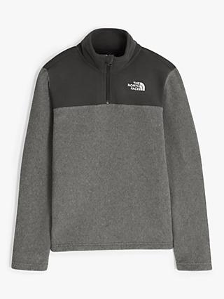 The North Face Boys' Glacier Quarter Zip Fleece, Grey