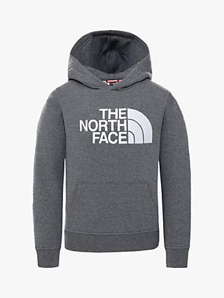 The North Face Boy's Drew Logo Hoodie, Light Grey