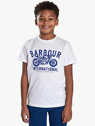 Barbour International Boys' Motorbike Cotton T-Shirt, White