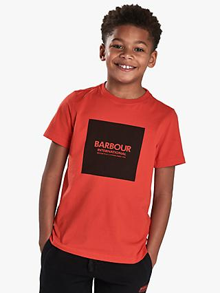 Barbour International Boys' Logo Cotton T-Shirt, Red