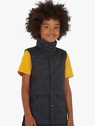 Barbour Boys' Liddesdale Quilted Gilet, Navy
