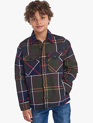 Barbour Boys' Tartan Overshirt, Green/Multi