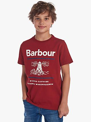 Barbour Boys' Reed Cotton T-Shirt, Red