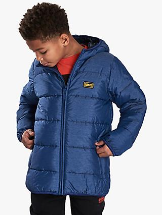 Barbour International Boys' Court Quilted Jacket, Blue