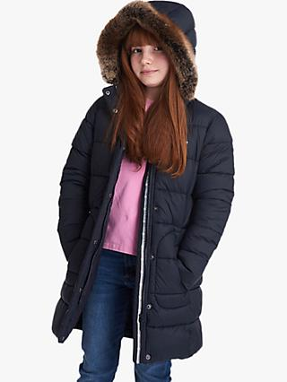 Barbour Girls' Bridled Quilted Jacket, Navy