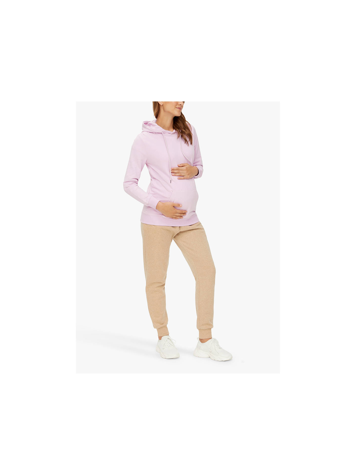 Buy Mamalicious Solvei Maternity Hoodie, Pink, XL Online at johnlewis.com