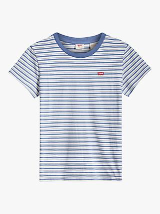 Levi's Perfect Stripe T-Shirt, Silphium Colony Blue