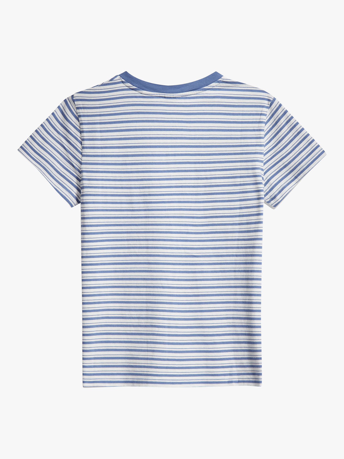 Buy Levi's Perfect Stripe T-Shirt, Silphium Colony Blue, XS Online at johnlewis.com
