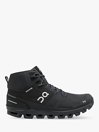 On Cloudrock Men's Waterproof Hiking Boots, All Black