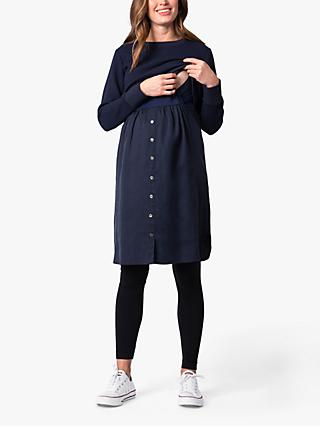 Seraphine Tulia Mock Sweater Maternity & Nursing Dress, Navy