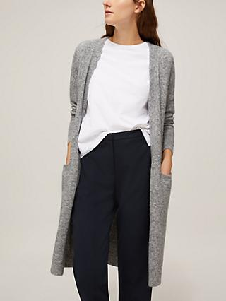 Modern Rarity Lofty Mid Length Cardigan, Silver Grey