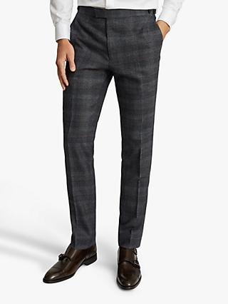 Reiss Dream Slim Fit Wool Suit Trousers, Navy