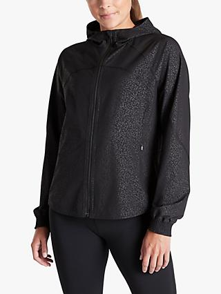 Athleta Running Free Printed Jacket, Black