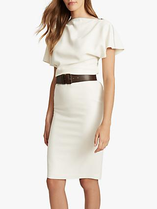 Reiss Josie Zip Detail Dress, White