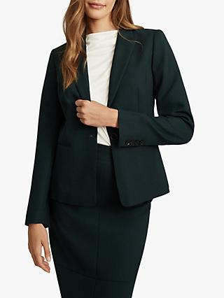 Reiss Sadie Wool Blend Slim Fit Blazer, Green