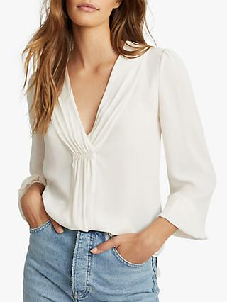 Reiss Bridgette Pleat Detail Blouse