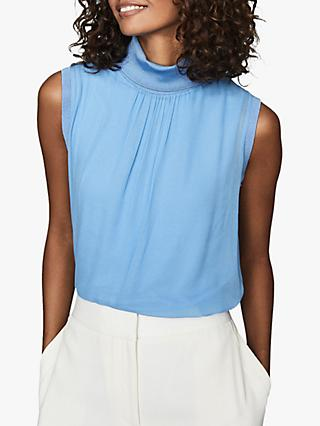 Reiss Gilda Sleeveless Roll Neck Top