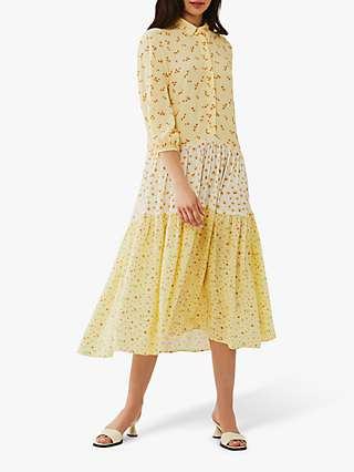Ghost Tally Crepe Floral Midi Dress