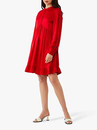 Ghost Skyler Satin Mini Dress, Red
